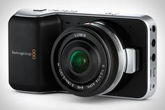 The Blackmagic Pocket Cinema Camera features a Super 16mm-sized, 1080p-capable sensor with 13 stops of dynamic range, an SD slot for expandable storage, compatibility with Micro Four Thirds lenses and the ability to record in Apple ProRes or lossless CinemaDNG RAW formats.