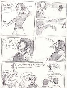 Manga Couple Attack on Titan / Shingeki no Kyojin / aot / snk Attack On Titan Funny, Attack On Titan Ships, Attack On Titan Anime, Eren And Mikasa, Levi X Eren, Ymir, Cosplay Meme, Connie Springer, Aot Memes