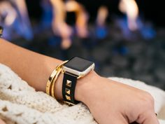 Now your watch can look as chic as the rest of you! This cool studded band has a simple buckle closure and is made of high quality genuine leather and nickel-fr