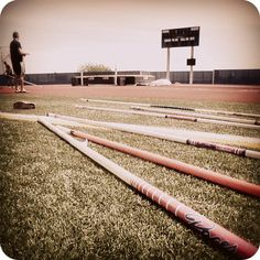 Yes, i can name every brand of pole in this picture. pole vault <3