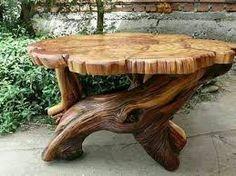 Resultado de imagen para decoraciones rusticas con troncos