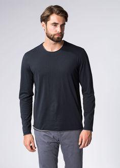 MARC O'POLO, Heren, Kleding, Longsleeves / Sweaters, Shirt, lange mouwen, uit katoen jersey