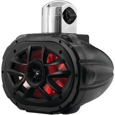 "BOSS AUDIO MRWT69RGB 6"" x 9"" 600-Watt 4-Way Marine Wake Tower Speaker with RGB LED Lights"