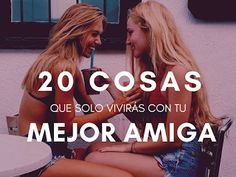 20 cosas que solo vivirás con tu mejor amiga ~ The Optimistic Side Best Friens, Friend Tumblr, Bff Birthday Gift, Presents For Him, Girl Tips, Best Friend Goals, Power Girl, Friend Pictures, True Friends