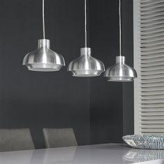 Hanglamp 3L alu series  25 doorsnee Aluminium brushed