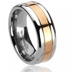 Men titanium Static rings - Spikes