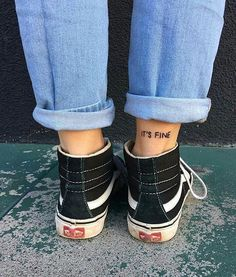 It's fine.  Via: @vansgirls  #vans #vansshoes #shoes #vansgirl #fine #photography #ph #tattoos #tatto #tatts