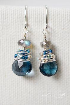 London Blue Topaz and Labradorite Sterling by KeelinBJewelry, $32.00