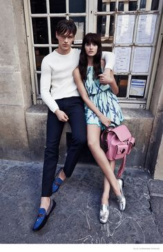 Landing the January 2015 cover story from Elle Czech, the stunning Zuzana Gregorova cozies up to male model Filip Hrivnak in a romantic, couple's style shoot. Captured by Branislav Simoncik, the pair hit the streets in chic resort outfits styled by Jan Kralicek. Along the way, Filip plays photographer himself—snapping his own pictures of Zuzana in their Paris outing. / Makeup by Katerina Brans, Hair by Miroslava ...