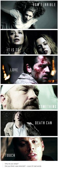 How terrible it is to love something death can touch. #Supernatural