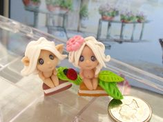 Spooky fairies /polymer clay beads/great gift package.