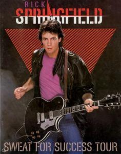RICK SPRINGFIELD 1982 SWEAT FOR SUCCESS TOUR CONCERT PROGRAM BOOK