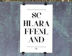 彡 einwort print | schlaraffenland von heyhey auf DaWanda.com