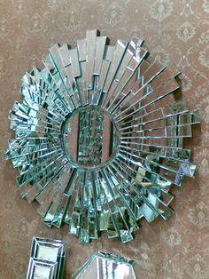 """Designer"""" Round Italia Bevelled Mirror 48"""" x 48"""""""