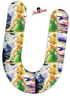 Alfabeto de Campanilla imágenes dentro de las letras. | Oh my Alfabetos!