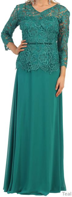 Modest Long Sleeve Lace Mother of the Bride Dress Plus Size Formal Evening Gown Formal Dresses With Sleeves, Plus Size Formal Dresses, Wedding Dresses Plus Size, Lace Evening Gowns, Formal Evening Dresses, Mother Of The Bride Plus Size, Bride Gowns, Mothers Dresses, Mom Dress