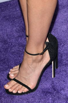 Stilettos and Stocking Tops Crystal Reed, Feet Soles, Women's Feet, Stilettos, Sexy Heels, High Heels, Gorgeous Feet, Pretty Toes, Female Feet