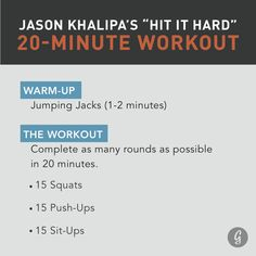 CrossFit Athlete Jason Khalipa's 20-Minute Bodyweight Workout