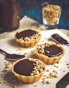 This Easy No Bake Chocolate Tart is made from Digestive Biscuits Crust and Chocolate Ganache Filling.