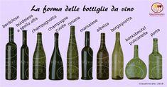 La forma delle bottiglie da vino