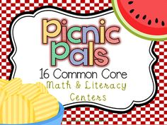 Math and Literacy Picnic Center!  Perfect for May!