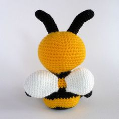 Amigurumi Bee Crochet Toy Bee Hand Made Plush Toy by MWHandicrafts