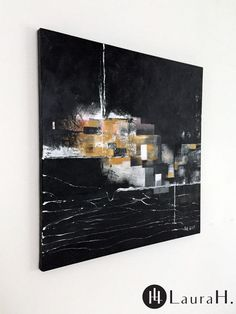 """LauraH: """"Moment Before Darkness"""", acrylic on canvas. Scandinavian interior, m… – toptrendpin. Nordic Art, Scandinavian Interior, Modern Interior, Darkness, Modern Art, My Arts, In This Moment, Photo And Video, Canvas"""