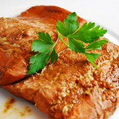Ginger Soy Salmon: The ginger soy marinade a favorite way to season salmon. So deliciously flavorful, and so easy to prepare, this low calorie salmon comes out moist and delicious and is sure to be enjoyed by everyone.