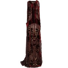 View this item and discover similar for sale at - Gown in hand-painted burgundy viscose/silk devore with georgette lining. White Costumes, Beautiful Outfits, Beautiful Clothes, Roberto Cavalli, Spring Summer Fashion, Evening Dresses, Burgundy, Dress Up, Hand Painted