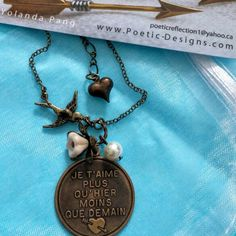 Sold :  French Quote Endless Love Un Amour Sans Fin Necklace is the best way to express love .