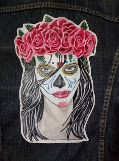 "Leather patch ""Santa Muerte"" mexicana de OmahaBeach en Etsy"