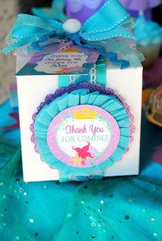 Mermaid Birthday - THANK YOU TAGS- Princess Party - Girl Birthday - Mermaid Party- Mermaid Printables - INSTANT Download