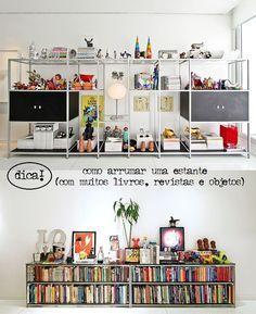 Organizando livros, estantes.