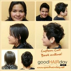 Mohawk custom cut Natural Hair Style,  Two Strand Twists  Relaxed Styles, Natural Styles, Keratin Treatments, Custom Color, Precision Cuts, Book online!  www.goodhairday.net