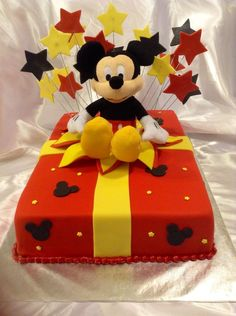 Mickey Mouse birthday present cake — Disney Themed Cakes