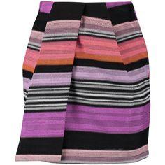 Missoni Wrap-effect crochet-knit mini skirt (970 BRL) ❤ liked on Polyvore featuring skirts, mini skirts, multi, colorful skirts, knit wrap skirt, crochet mini skirt, crochet skirt and multi colored skirt