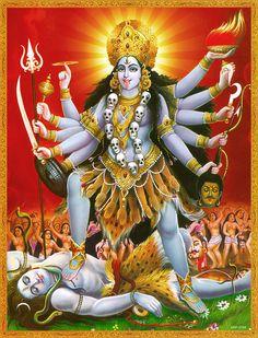 Goddess Kali (Reprint on Paper - Unframed))