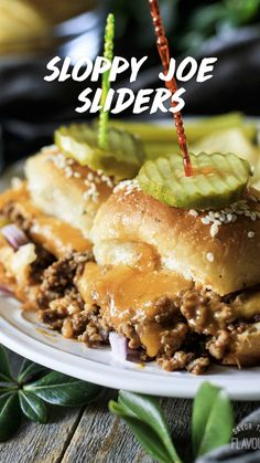 Slider Sandwiches, Baked Sandwiches, Dinner Sandwiches, Beef Recipes, Cooking Recipes, Best Sandwich Recipes, Sammy, Sloppy Joes Recipe
