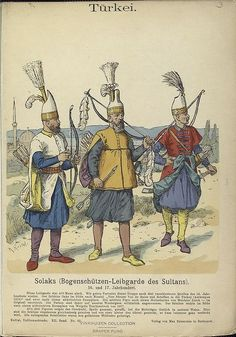 Solak (Janissary Ottoman soldiers) who  provided protection to the sultans during imperial ceremonies and wars, one task of the solak soldiers was to keep everybody away from the sultan, even his private servants such as sword bearers and footmen. Solak soldiers carried their weapons when they went out of the palace together with the sultan, however in 1492 after an assassination attempt to the Sultan Bayezid ii, they began to carry weapon also within the palace.