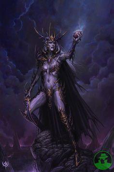 ideas dark art fantasy character inspiration elves for 2019 Warhammer Dark Elves, Warhammer Art, Warhammer Online, Fantasy Battle, Fantasy Races, Gothic Fantasy Art, Fantasy Girl, Fantasy Paintings, Fantasy Artwork