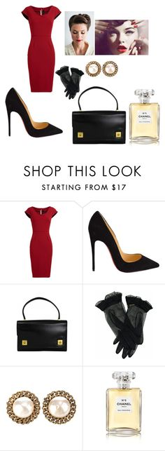 """This outfit is very seducing and classy at the same time"" by chanel-xoxo123 on Polyvore featuring Roland Mouret, Christian Louboutin, Hermès, Retrò, Chanel and vintage"