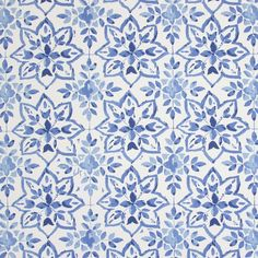Avignon - Porcelain - Cotton fabric in white with a navy blue design of star shapes formed by small, simple leaves from Prestigious Textiles Green Curtains, Cotton Curtains, Hall Curtains, Cotton Fabric, Fabric Decor, Fabric Design, Curtain Fabric, Prestigious Textiles, Made To Measure Curtains