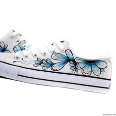 I have to make these myself, because the Chinese people that make them don't think that ladies wear size 10 shoes! I could easily do them with my Copics, though, on Vans or Toms!