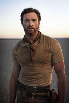 Hugh Jackman. Terry towelling shirt - cosy!