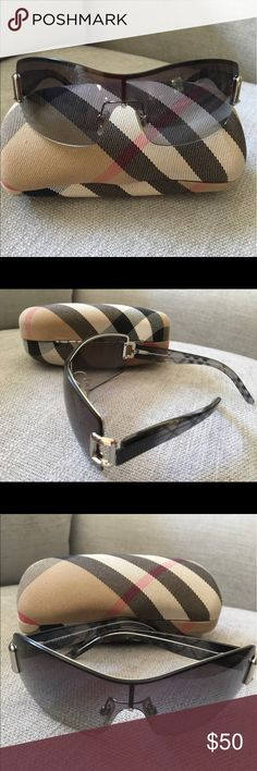 Burberry sunglasses Blue/gray tinted lens with classic Burberry branded arms. Blue/gray/ silver. Comes with case and lens duster. Excellent condition, worn ~5 times (if even). Burberry Accessories Sunglasses