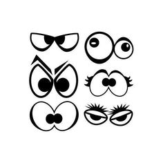 Spooky Eyes decal pack cute cartoon monster eyes assorted assortment found on Polyvore