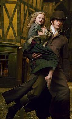 Jean Valjean and Cosette. 'Les Misérables' (2012) - Costume Designer: Paco Delgado