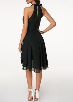 2020 Women Dresses Black Layered Cutout Back Sleeveless Chiffon Dress Dresses For Sale, Sexy Dresses, Casual Dresses, Fashion Dresses, Formal Dresses, Skater Dresses, Women's Fashion, Party Dress Sale, Club Party Dresses