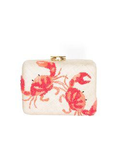 Woven Crab Clutch Bag