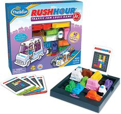 Amazon.com: ThinkFun Rush Hour Junior Traffic Jam Logic Game and STEM Toy for Boys and Girls Age 5 and Up - Junior Version of the International Bestseller Rush Hour: Game: Toys & Games Rush Hour Game, Traffic Jam Game, Toys For Boys, Kids Toys, Challenge Games, Educational Toys For Toddlers, Learning Toys, Logic Games, Good Movies To Watch